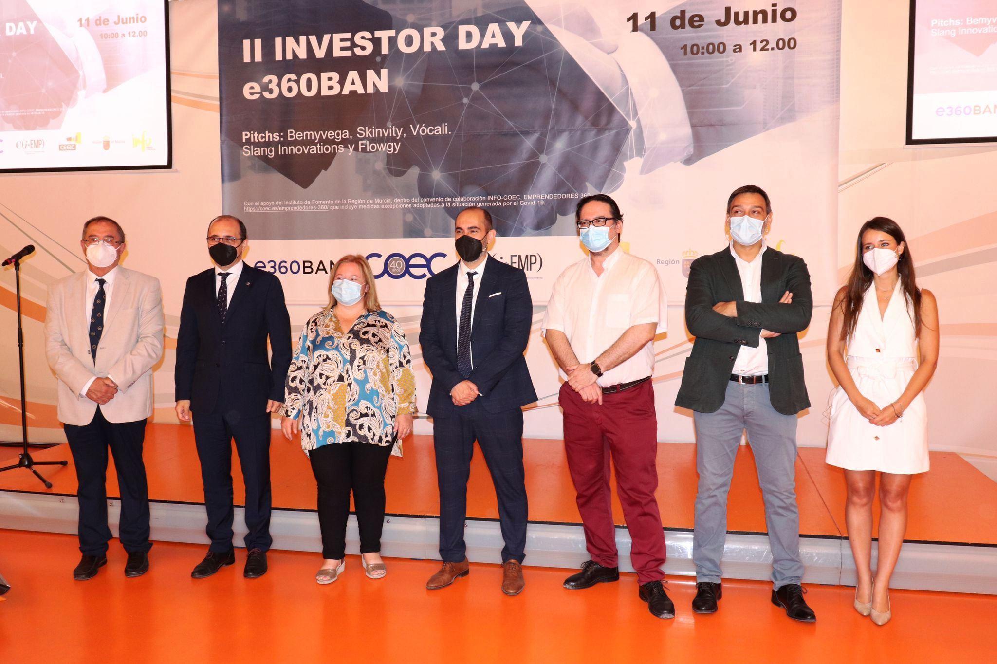 CINCO STARTUPS PRESENTAN SUS PROYECTOS EN BUSCA DE INVERSORES EN EL II INVESTOR DAY E360BAN ORGANIZADO POR COEC